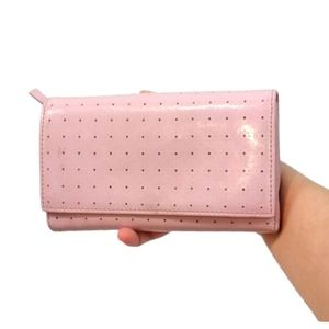 Francesco Biasia Pink Leather Trifold Wall…